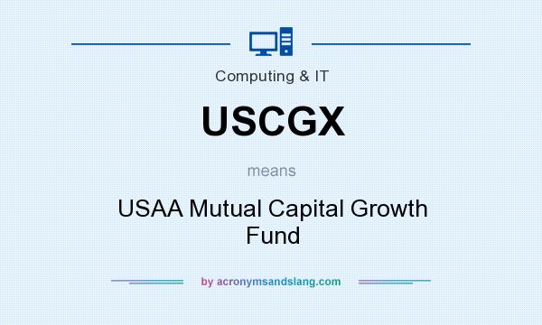 What does USCGX mean? It stands for USAA Mutual Capital Growth Fund