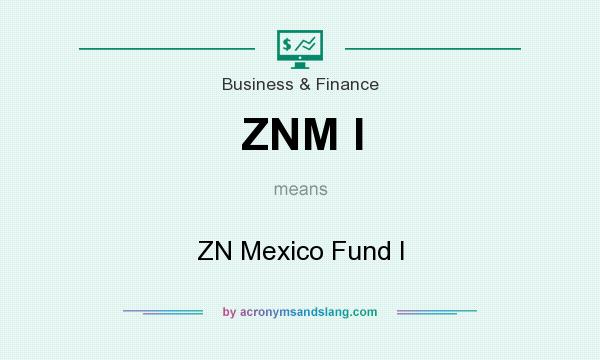 What does ZNM I mean? It stands for ZN Mexico Fund I