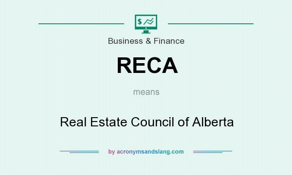 What does RECA mean? It stands for Real Estate Council of Alberta