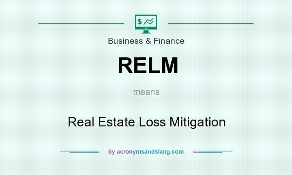 What does RELM mean? It stands for Real Estate Loss Mitigation
