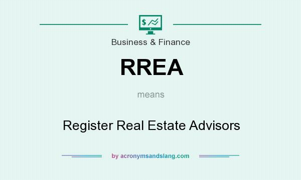 What does RREA mean? It stands for Register Real Estate Advisors