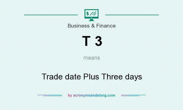 What does T 3 mean? It stands for Trade date Plus Three days