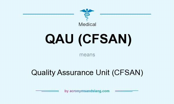 What does QAU (CFSAN) mean? It stands for Quality Assurance Unit (CFSAN)