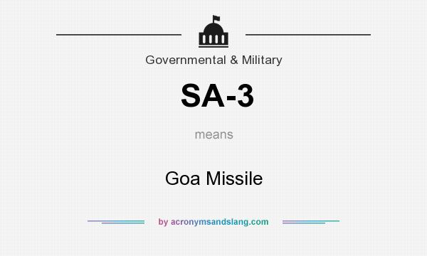 What does SA-3 mean? It stands for Goa Missile