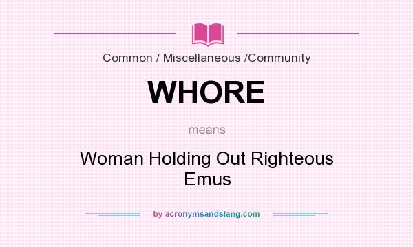 what whore means