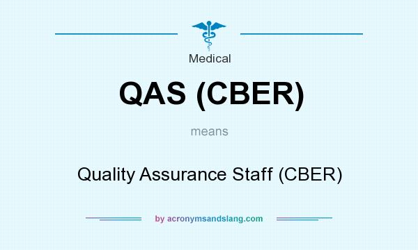 What does QAS (CBER) mean? It stands for Quality Assurance Staff (CBER)