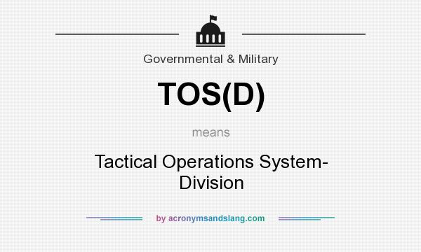 What does TOS(D) mean? - Definition of TOS(D) - TOS(D