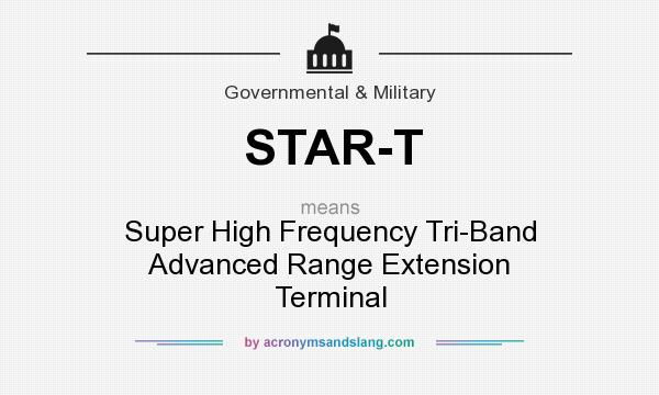 What does STAR-T mean? It stands for Super High Frequency Tri-Band Advanced Range Extension Terminal