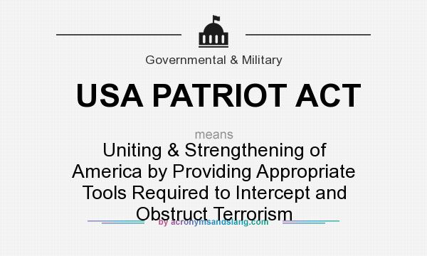 an overview of the patriot act in the united states Homeland security act, patriot act, freedom of information on september 11, 2001, the united states congress enacted the patriot homeland security act.