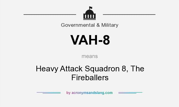 What does VAH-8 mean? It stands for Heavy Attack Squadron 8, The Fireballers