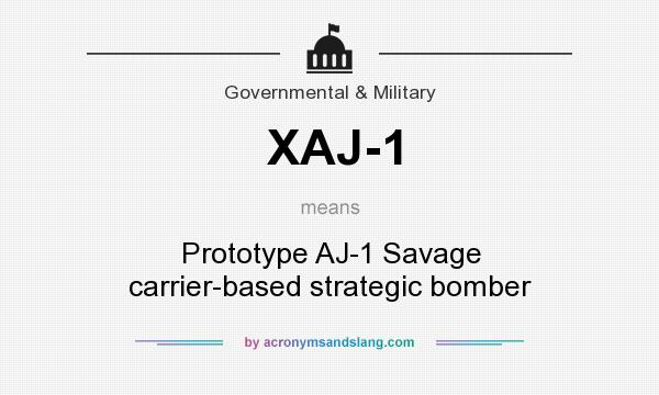 What does XAJ-1 mean? It stands for Prototype AJ-1 Savage carrier-based strategic bomber