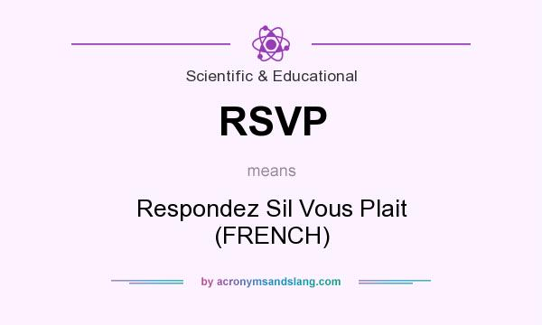 rsvp respondez sil vous plait french in scientific