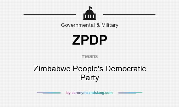 What does ZPDP mean? It stands for Zimbabwe People`s Democratic Party
