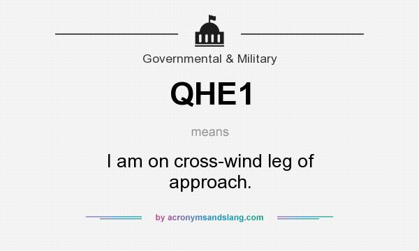 What does QHE1 mean? It stands for I am on cross-wind leg of approach.