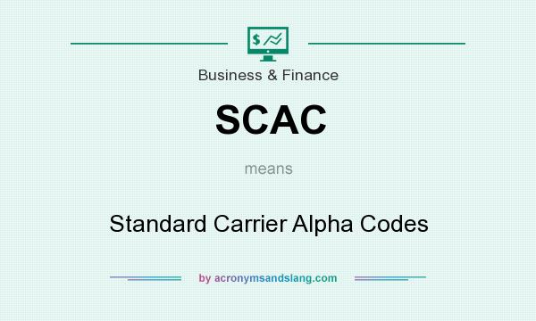 SCAC - Standard Carrier Alpha Codes in Business & Finance by