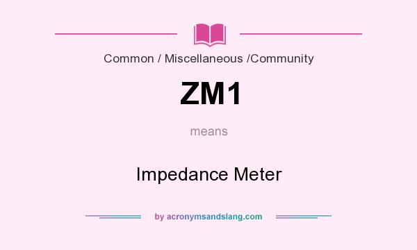 What does ZM1 mean? It stands for Impedance Meter