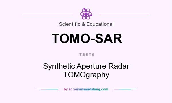 What does TOMO-SAR mean? It stands for Synthetic Aperture Radar TOMOgraphy
