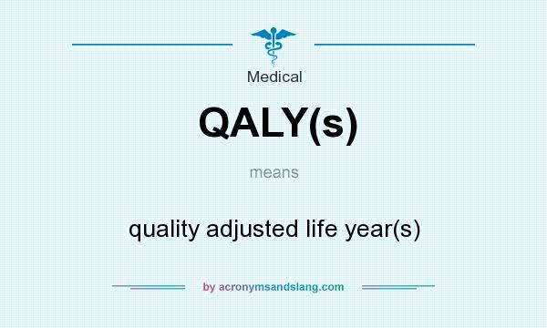 What does QALY(s) mean? It stands for quality adjusted life year(s)