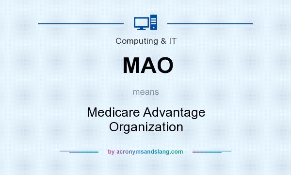 What does MAO mean? It stands for Medicare Advantage Organization