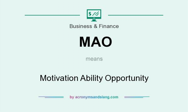 MAO - Motivation Ability Opportunity in Business & Finance by