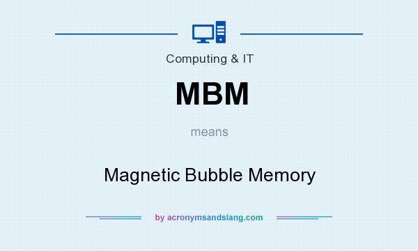 What does MBM mean? It stands for Magnetic Bubble Memory