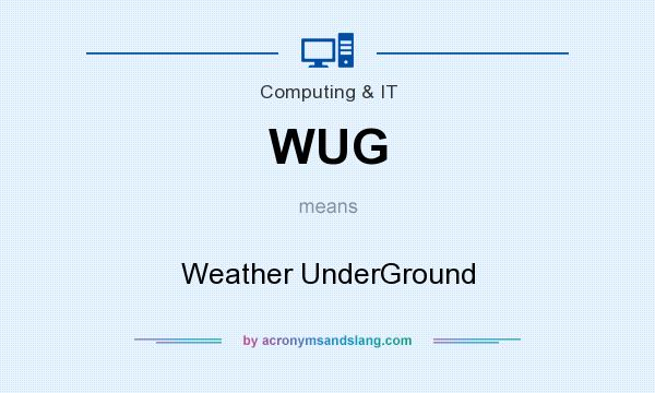 What does WUG mean? It stands for Weather UnderGround