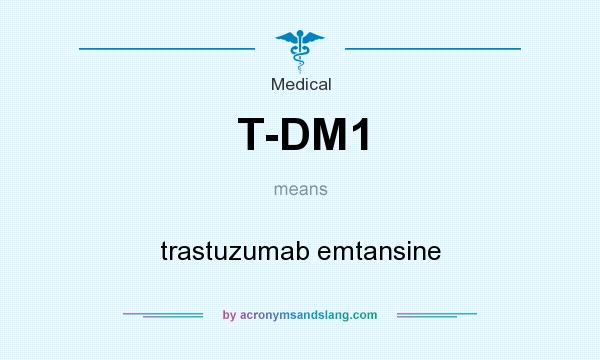 What does T-DM1 mean? It stands for trastuzumab emtansine