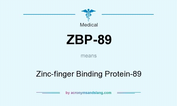 What does ZBP-89 mean? It stands for Zinc-finger Binding Protein-89