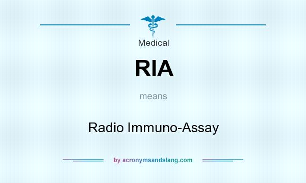 What does RIA mean? It stands for Radio Immuno-Assay