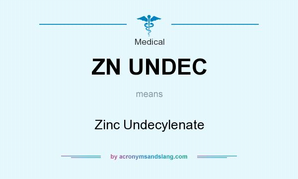 What does ZN UNDEC mean? It stands for Zinc Undecylenate