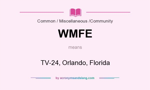 What does WMFE mean? It stands for TV-24, Orlando, Florida