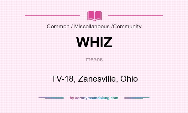 What does WHIZ mean? It stands for TV-18, Zanesville, Ohio
