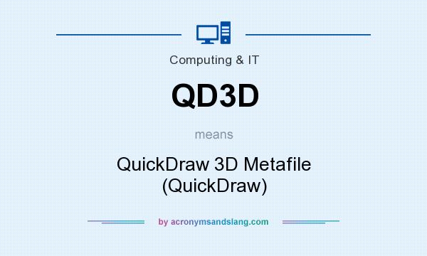 What does QD3D mean? It stands for QuickDraw 3D Metafile (QuickDraw)