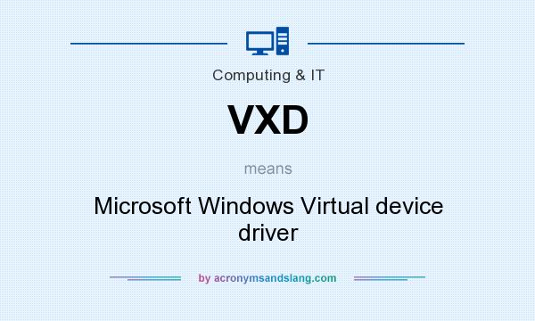What does VXD mean? It stands for Microsoft Windows Virtual device driver