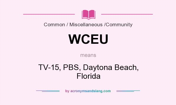 What does WCEU mean? It stands for TV-15, PBS, Daytona Beach, Florida