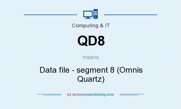 What does QD8 mean? It stands for Data file - segment 8 (Omnis Quartz)