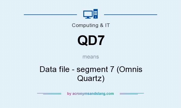 What does QD7 mean? It stands for Data file - segment 7 (Omnis Quartz)