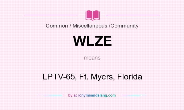 What does WLZE mean? It stands for LPTV-65, Ft. Myers, Florida