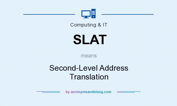 What does SLAT mean? It stands for Second-Level Address Translation
