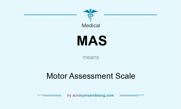 What does MAS mean? It stands for Motor Assessment Scale