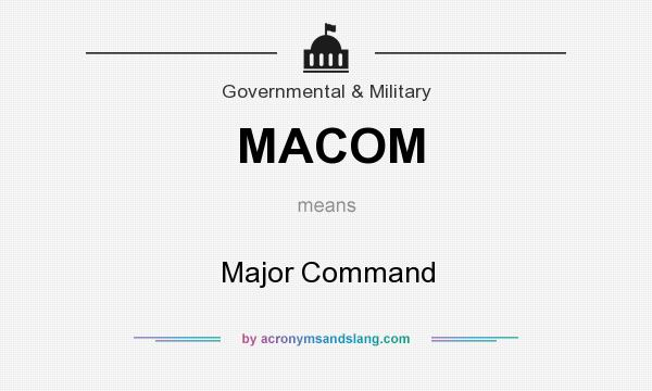 What does MACOM mean? It stands for Major Command