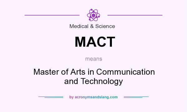 What does MACT mean? It stands for Master of Arts in Communication and Technology