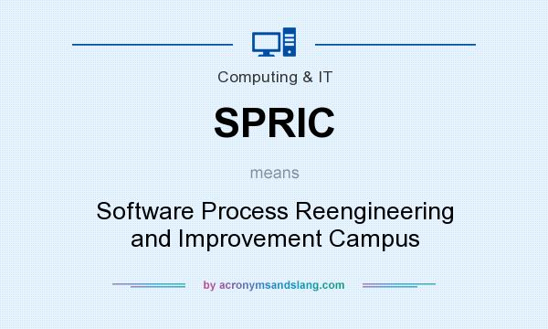 What does SPRIC mean? It stands for Software Process Reengineering and Improvement Campus