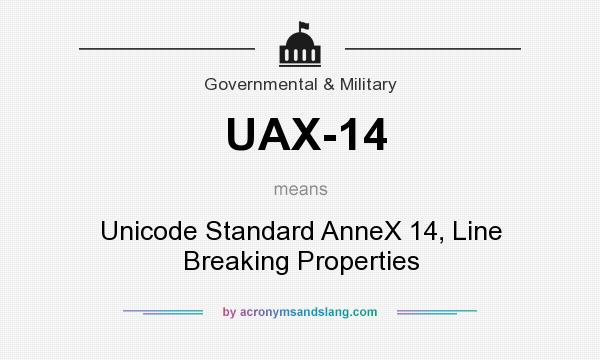 What does UAX-14 mean? It stands for Unicode Standard AnneX 14, Line Breaking Properties