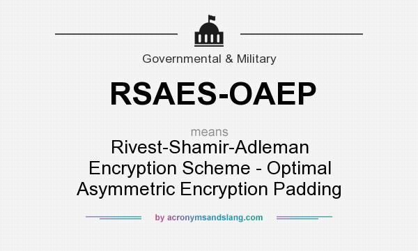 Optimal asymmetric encryption padding