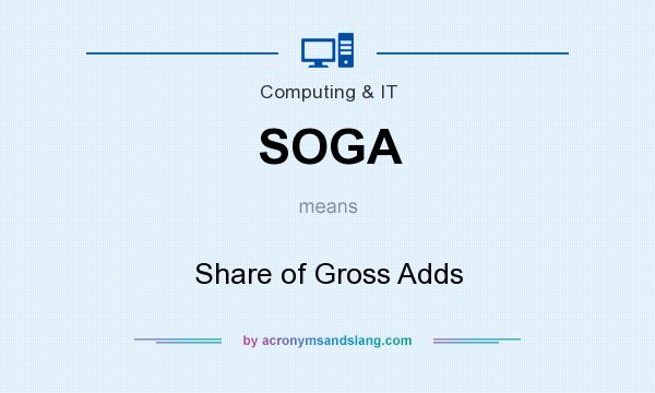 What does SOGA mean? It stands for Share of Gross Adds