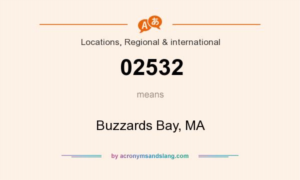What does 02532 mean? It stands for Buzzards Bay, MA