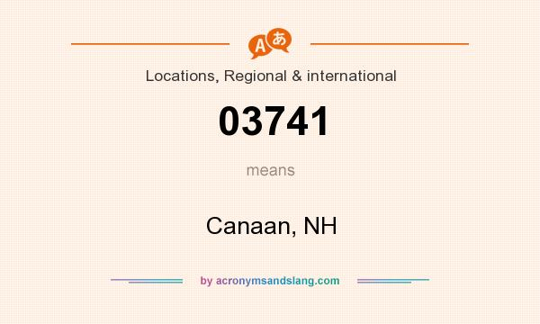 What does 03741 mean? It stands for Canaan, NH
