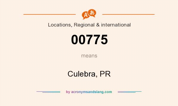 What does 00775 mean? It stands for Culebra, PR
