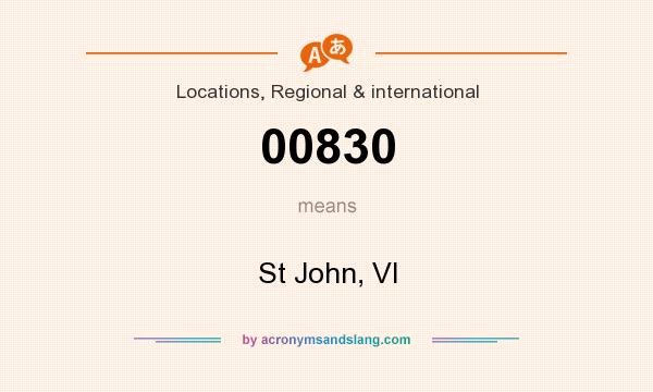 What does 00830 mean? It stands for St John, VI